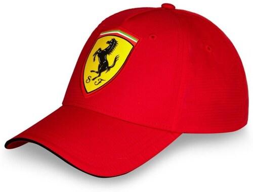 Šiltovka Scdueria Ferrari Carbon červená
