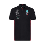 Mercedes AMG Petronas Motorsport F1 Team Mens Polo Shirt Black