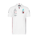 Mercedes AMG Petronas Motorsport F1 Team Mens Polo Shirt White