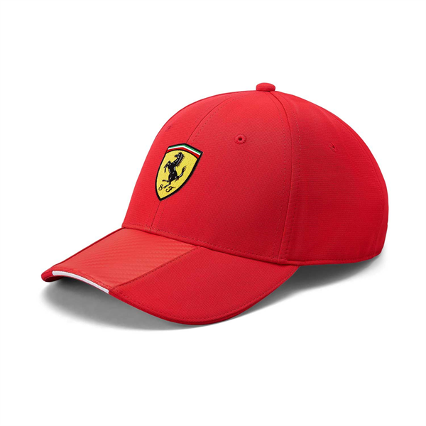 Scuderia Ferrari Mens Carbon baseball cap red