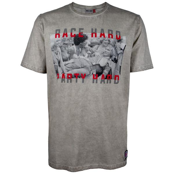 James Hunt tričko Race Hard Party Hard