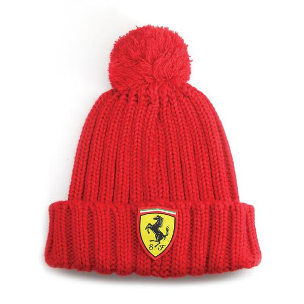 Čiapka Scuderia Ferrari s gongolcom v červenej farbe