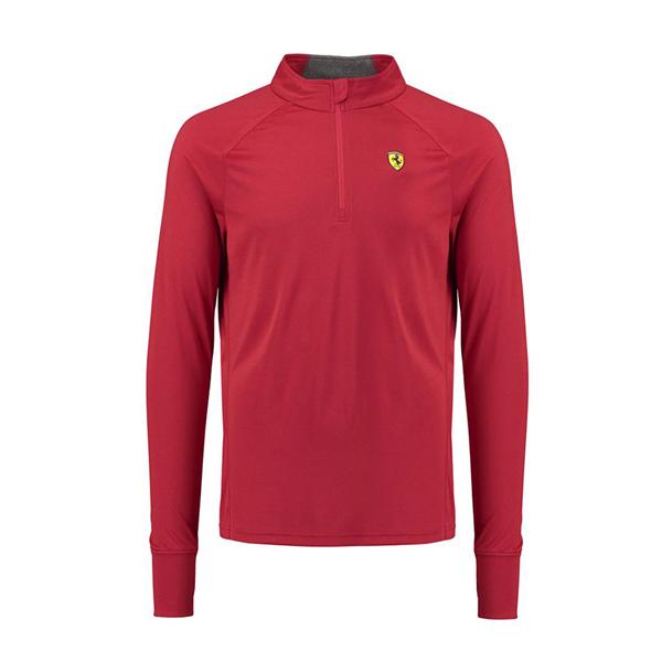 Tričko s dlhým rukávom Scuderia Ferrari červené