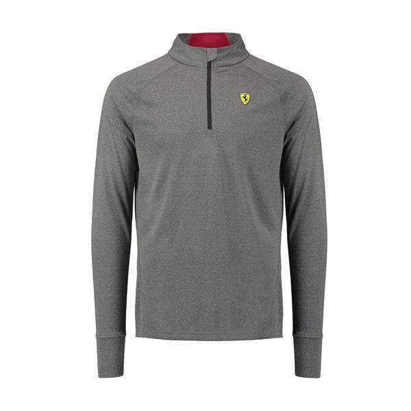 Tričko s dlhým rukávom Scuderia Ferrari šedé