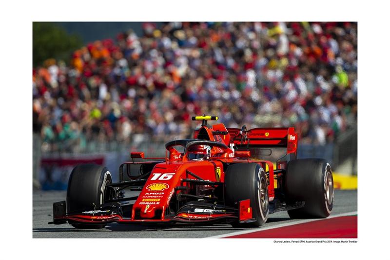 Plagát Scuderia Ferrari  Charles Leclerc