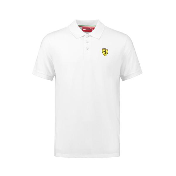 Pólo Košeľa Scuderia Ferrari v bielej Farbe