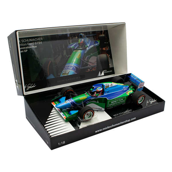 MINICHAMPS MODEL Mick Schumacher Benetton Ford B194 Demo Run Belgien GP 2017 1/18