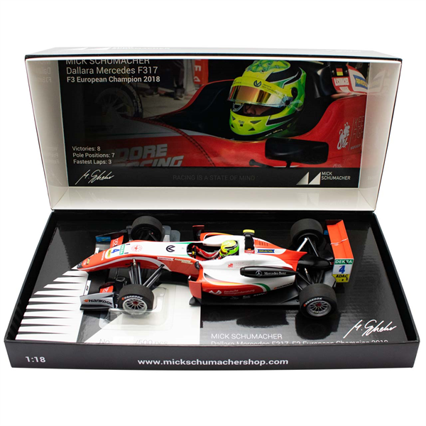 MINICHAMPS MODEL Mick Schumacher Dallara Mercedes F317 Prema Racing Formula 3 1/18
