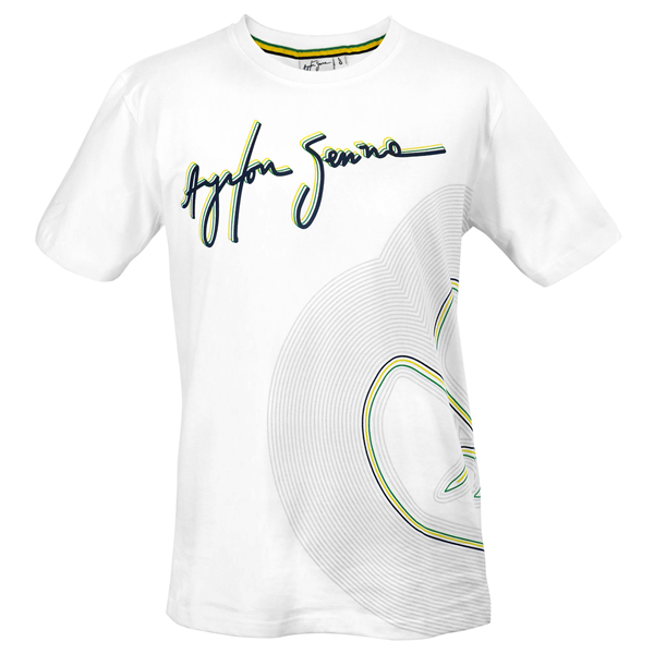 Ayrton Senna Tričko Track Lines