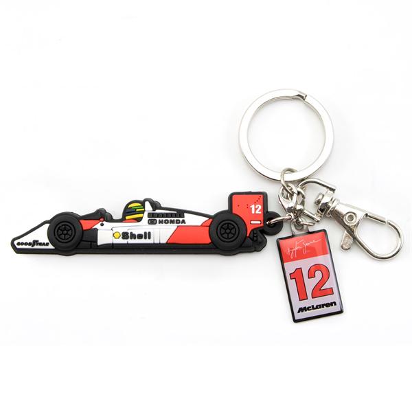 Ayrton Senna Rubber Keyring McLaren MP4/4