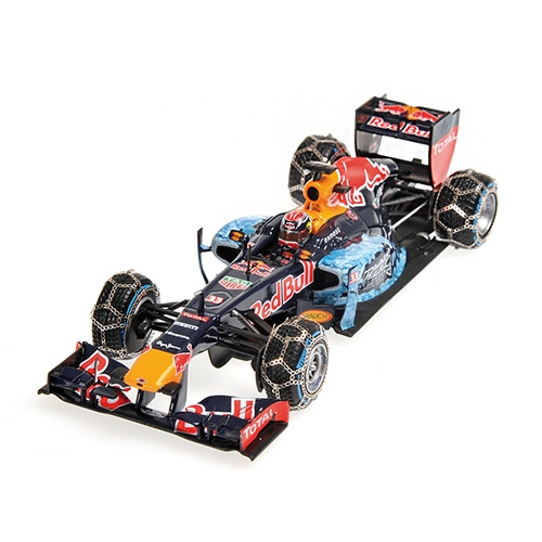 Model Red Bull Racing Tag Heuer RB7 Blue 1:18 Snow Demonstration Run Kitzbuhel 14th January 2016