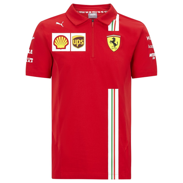 Ferrari F1 Mens Team Polo Shirt red