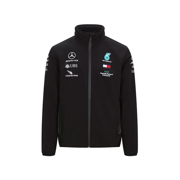 Mercedes AMG Petronas Motorsport F1 Team Mens Softshell Jacket Black