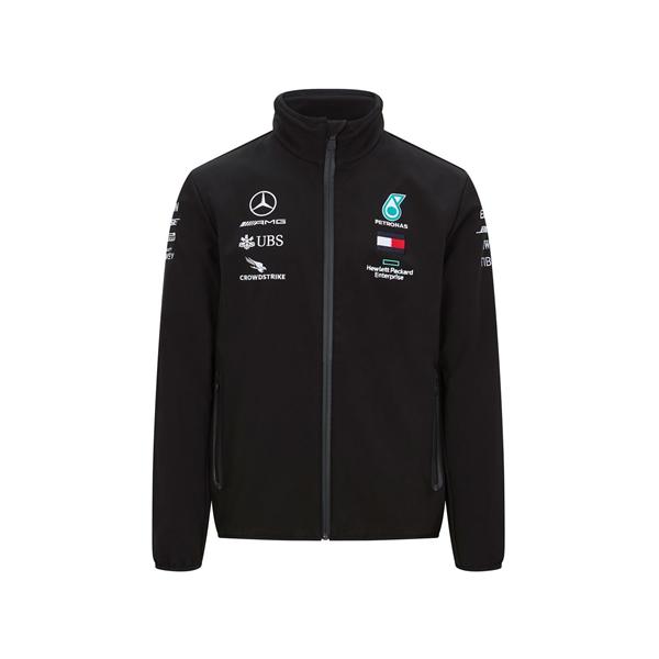 Mercedes AMG Petronas Motorsport F1 Team Mens Softshell Jacket Black