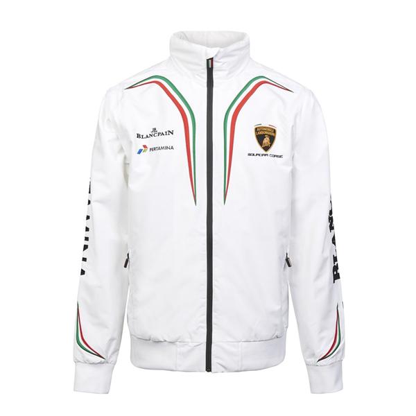 Lamborghini Mens Winproff Jacket Biela