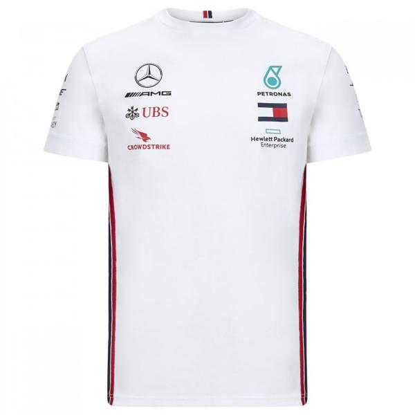 Tímové tričko Mercedes AMG F1 biele