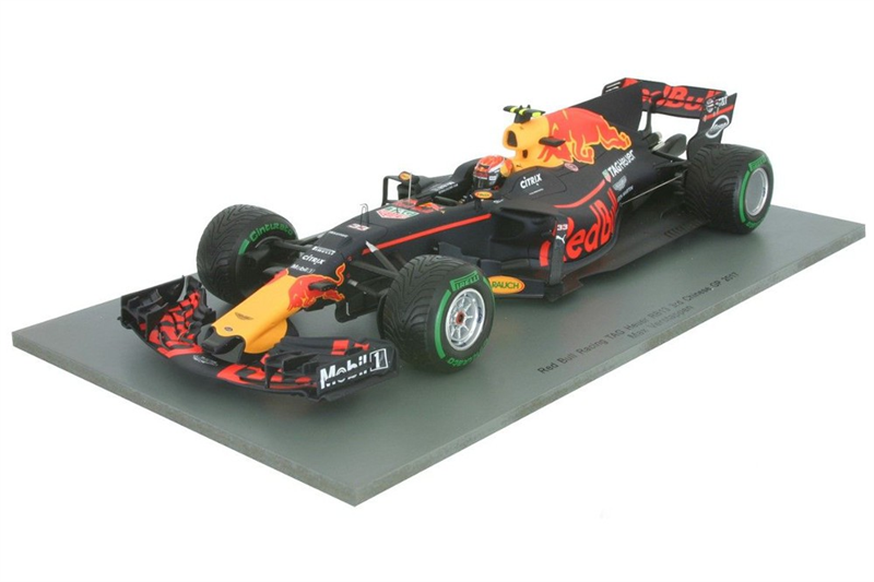 SPARK MODEL RED BULL - F1 RB13 TAG HEUER N 33 3rd CHINESE GP 2017 M.VERSTAPPEN - MATT BLUE YELLOW