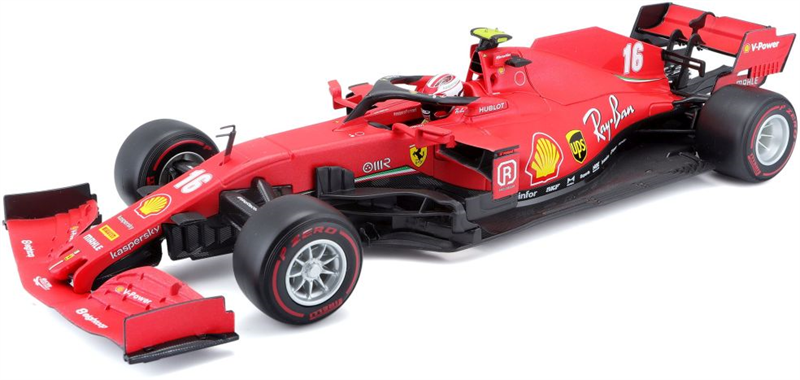 Model Ferrari SF1000 BURAGO - 1/18 - - F1 TEAM SCUDERIA FERRARI MISSION WINNOW N 16 2nd AUSTRIAN GP 2020 CHARLES LECLERC - WITH SOFT RED WHEELS - MATT