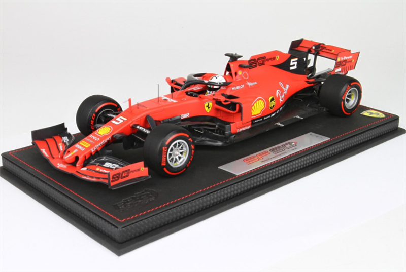 BBR Model Ferrari SF90 GP Italy Monza 2019 Vettel Display Included