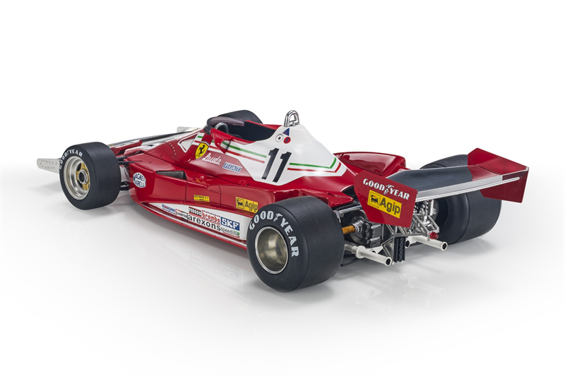 GP REPLICAS MODEL Niki Lauda FERRARI - F1 312T2 SIX WHEELS (6 RUOTE) N 11 NIKI LAUDA SEASON 1977 WORLD CHAMPION