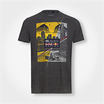 Tričko Red Bull Graphic T-Shirt Skyline Dark Grey Melange