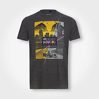 Tričko Red Bull Graphic T-Shirt Skyline Dark Grey Melange