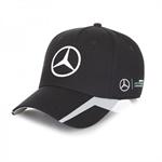 Tímová šiltovka Mercedes v čiernej farbe.