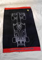 Osuška Ferrari čierna 90 x 160 cm