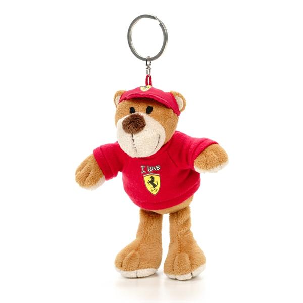 Plyšový Medvedík ako Prívesok na klúče Scuderia Ferrari