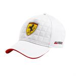 Šiltovka Scuderia Ferrari Quilt Stiched biela
