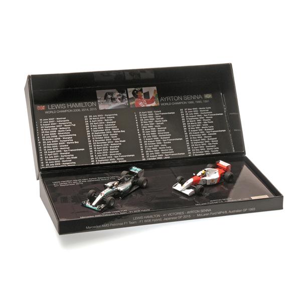 2 Modely Set Ayrton Senna - Lewis Hamilton 1/43