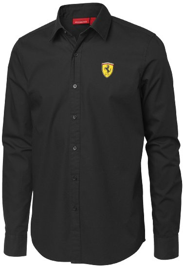 MAN LONG SLEEVE SHIRT Scuderia Ferrari Black