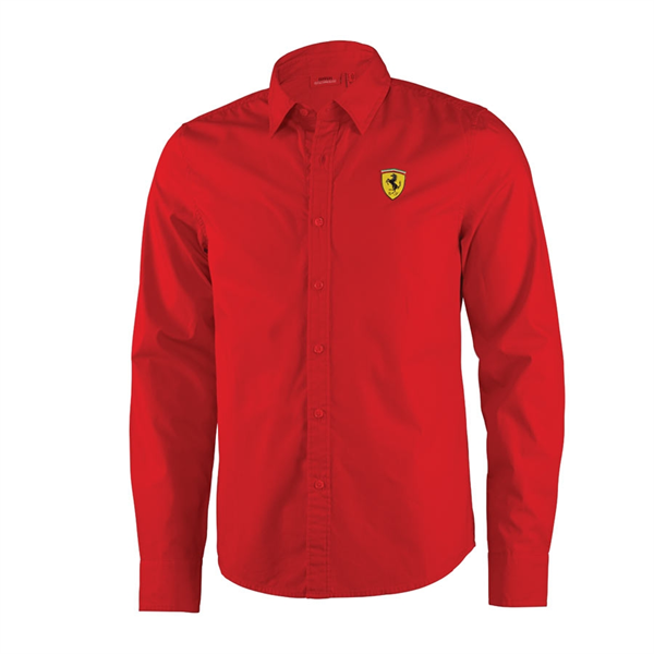 MAN LONG SLEEVE SHIRT Scuderia Ferrari Red