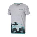 Tričko Lewis Hamilton šedé