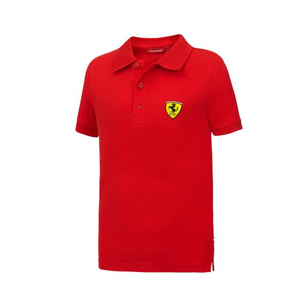 Detská Pólo Košeľa Scuderia Ferrari červená