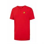 Tričko Scuderia Ferrari V - neck červené