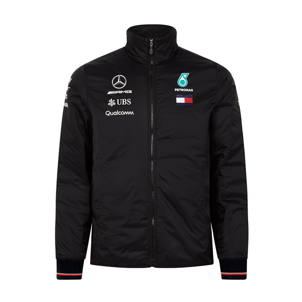 2018 Mercedes AMG F1 Mens Padded Jacket Black