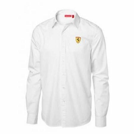 Pánska Košeľa Scuderia Ferrari biela