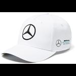Šiltovka Mercedes AMG PETRONAS v bielej farbe.