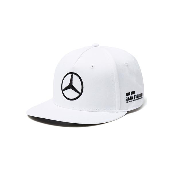 2018 Mercedes AMG Petronas Lewis Hamilton Flat Brim Cap white