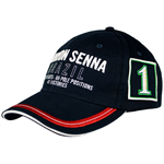 Ayrton Senna Cap 3 Times World Champion