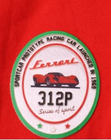 Ferrari 312P Berlinetta S/S tričko červené
