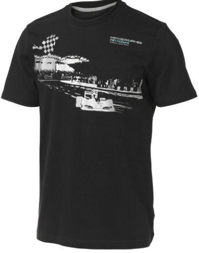 Tričko Mercedes GP Fan Graphic Tee čierne