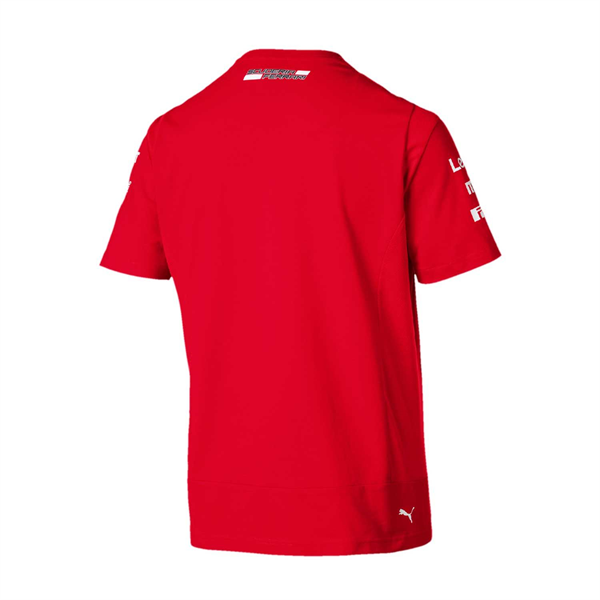 2019 Scuderia Ferrari Italy Team Mens Leclerc T-Shirt Red