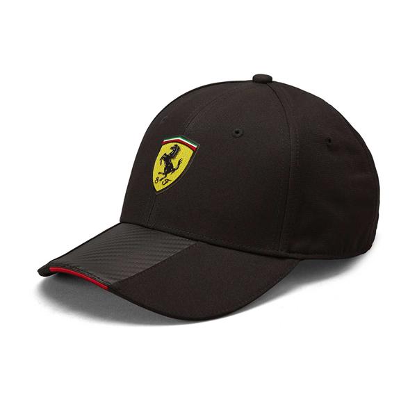 Scuderia Ferrari Mens Carbon baseball cap black