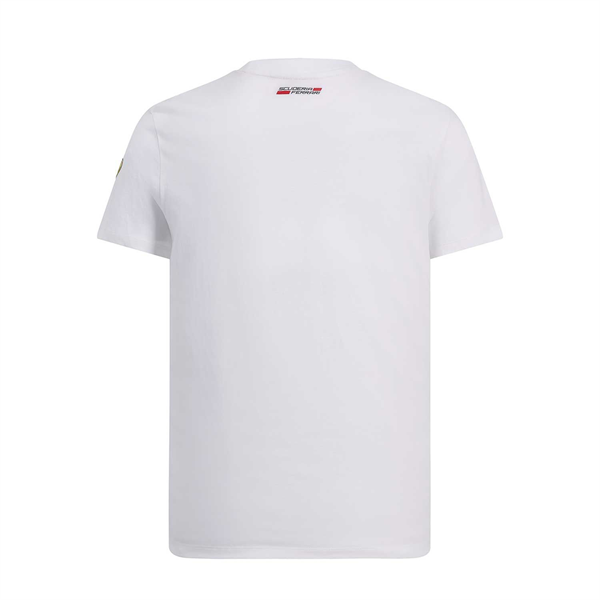Scuderia Ferrari Mens Collage T-Shirt white