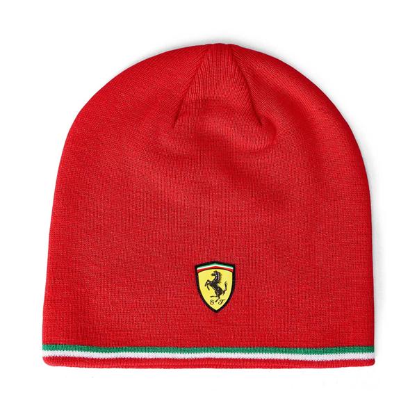 Červená zimná čiapka Scuderia Ferrari