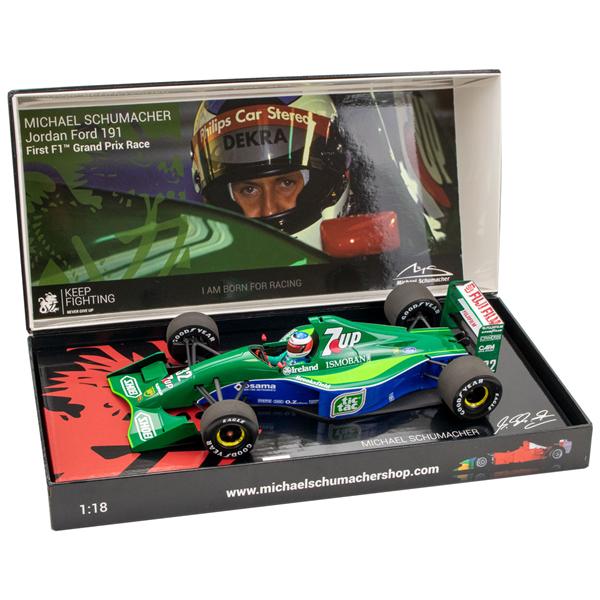 MINICHAMPS MODEL Michael Schumacher Jordan Ford 191 First F1™ Grand Prix Race Spa 1991 1/18