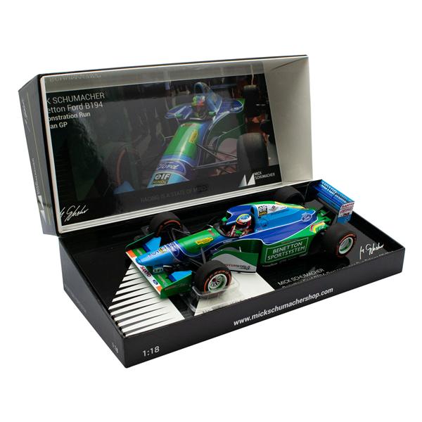 MINICHAMPS MODEL Mick Schumacher Benetton Ford B194 Demo Run Belgien GP 2017 1/18
