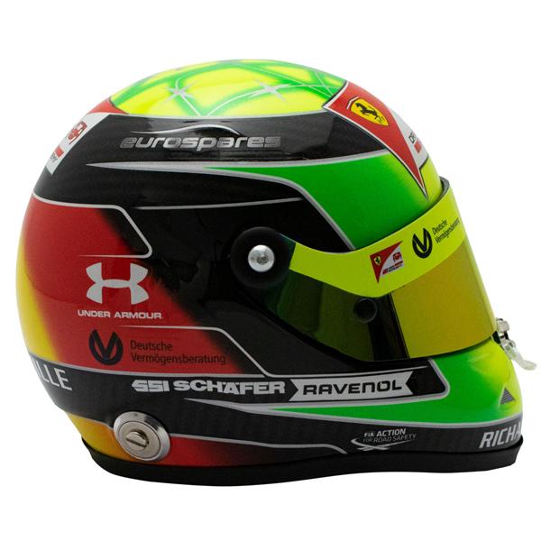Helma Mick Schumacher miniature helmet 2019 1/2